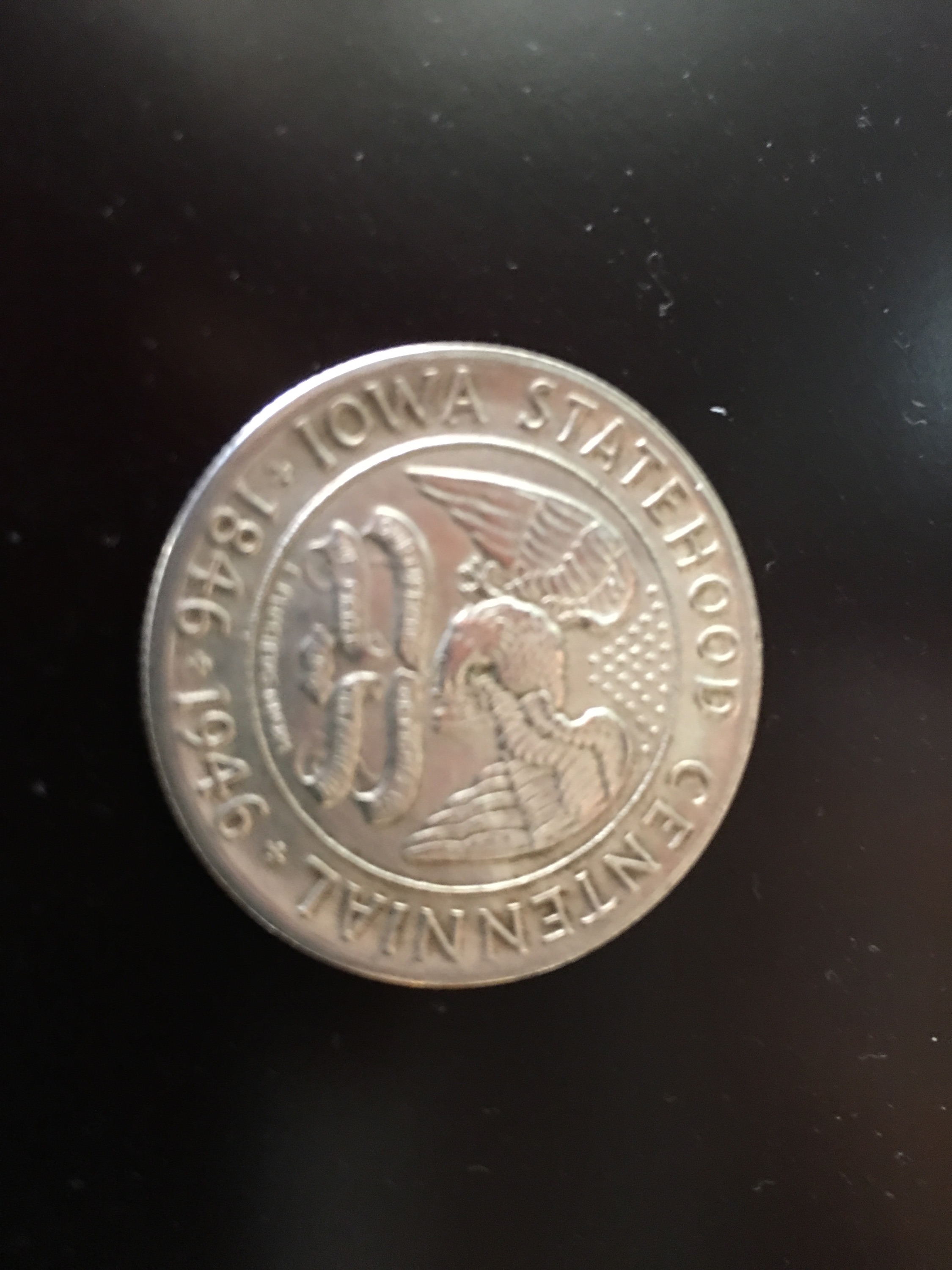 1946 Centennial Commemorative Half Dollar Coin