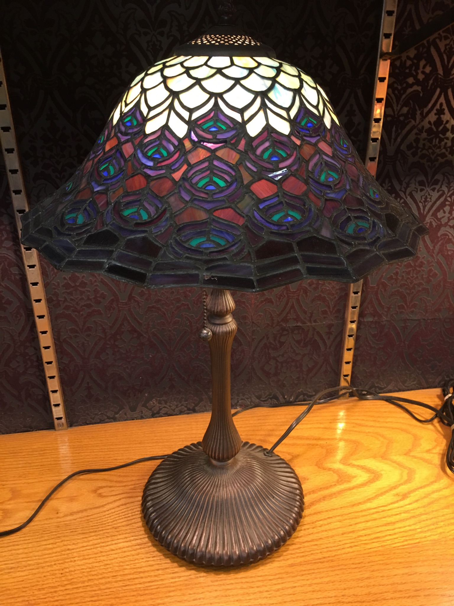 Meyda Tiffany Style Peacock Lamp